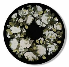 24'' marble table top coffee center round inlay mosaic home decor