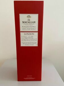 Macallan London  Whisky Empty Box