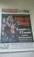 MIRANDA LAMBERT COVER ATLANTIC CITY PAPER  3/26-4/1/15 NEVER READ