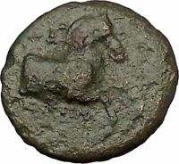 Kyme in Aeolis 350BC Horse & Vase Genuine Authentic Ancient Greek Coin  i51832