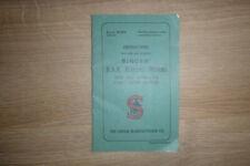 RARE SINGER INSTRUCTIONS K5959