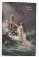Easter Greetings Tuck Oilette 9378 1907 Postcard US084