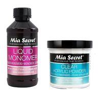 Mia Secret 4 oz Set Liquid Monomer & 4 oz Clear Acrylic Powder Nail Art Pro