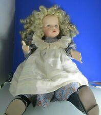 Porcelana cabeza muñeca, hillary, dianna Effner, Ashton Drake 1995, con certificado