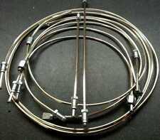 Riley Kestrel 1100 / 1300, full poli frein pipe set cupro-nickel