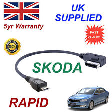 ORIGINAL SKODA RAPID MMI 5g0051763c Samsung HTC mp3 Cable Micro-USB Recambio