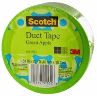"""Duct Tape Apple Green Colored 3M 1.88"""" x 20 Yards ( Scotch 3M 920 Apple Green )"""