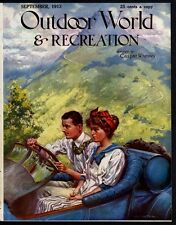 HUNTING, FISHING, CAMPING, OUTDOOR WORLD & RECREATION 1913 MAGAZINE, REMINGTON