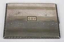 Fine Art Deco 14K Gold and sterling silver inlay cigarette case, box, Blake & Co