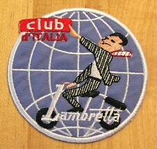 LAMBRETTA Club D'Italia iron-on cloth scooter badge patch