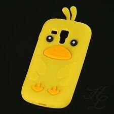 Samsung Galaxy S Duos s7562 SILICONE CUSTODIA GUSCIO PROTETTIVO ASTUCCIO Chicken COVER GIALLO 3d
