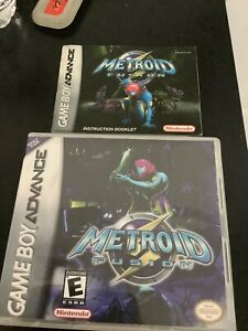Metroid Fusion (Nintendo Game Boy Advance, 2002) Box+Insert Manual