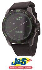 Alpinestars Tech Reloj 3 H Negro Malla de Nailon Negro Verde Moto Motocicleta J&s