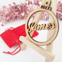 Wooden Personalised Gift Bauble Wedding Christmas Birthday Friend MDF Wood Blank