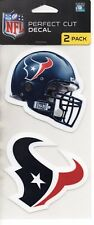"""Houston Texans 2 Pack Perfect Cut Decals Approx 4"""" x 4"""" Each Decal 4""""x8"""" Set"""