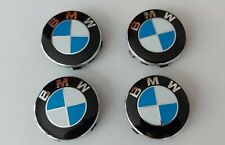4x Logo pour BMW Centre de roue Cache Moyeu jante 56 mm bleu classique