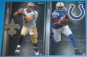 2013 NFL FATHEAD TRADEABLES Lot of 2 Drew Brees Reggie Wayne New Orleans Saints