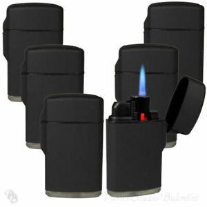 Sturmfeuerzeug Turbo Feuerzeug Outdoor BLACK RUBBER 1-5 Stk JET FLAME Torch