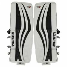 "New Vaughn Xr goalie leg pads White/Black junior 22""+2 Jr ice hockey Velocity V7"