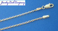 "14K Solid White Gold Diamond Cut Boston Link Chain 30"" 9.4grams 2mm (060)"
