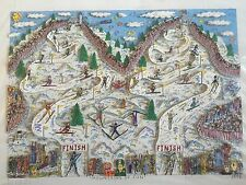 "James Rizzi: original 3D ""MOUNTAINS OF FUN'"", handsigniert, vergriffen"