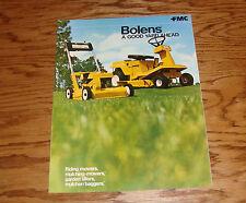 Original 1970 ? Bolens Sales Brochure 70 Mower Mulcher Tiller Bagger