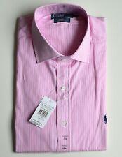 RALPH LAUREN Herren Hemd Custom Fit Langarm check-medium pink Größe 17 KW 43