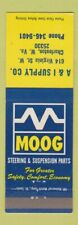 Matchbook Cover - Moog Steering Suspension Auto Parts Charleston WV