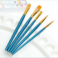 10 Stk Nylon Haar Acryl Aquarell Runde spitz zulaufende Spitze Künstler Pinsel