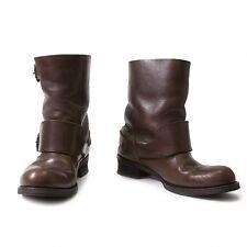 (SALE) LIMI feu middle leather belt boots Size US About  7.5(K-22034)