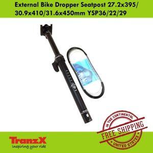 TranzX External Bike Dropper Seatpost 27.2x395/30.9x410/31.6x450mm YSP36/22/29