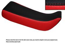 Negro Y Rojo Custom encaja Honda Xr 100 R 85-97 Doble Cuero Funda De Asiento