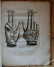 1669 PIGNORII - MENSA ISIACA sujets du sacré EGYPTE 11 grandes planches rare