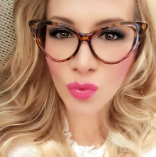 CLASSIC VINTAGE RETRO 60's CAT EYE Style Clear Lens EYE GLASSES Tortoise Frame
