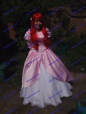 Disney Princess Ariel Dress Costume Adult Size 6 8 10 12 14 16 Light Pink/ White Size 8