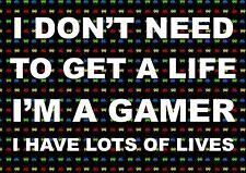 GAMER, GAMING, XBOX PLAYSTATION INSPIRATIONAL / MOTIVATIONAL POSTER /A3 PRINT
