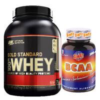 Optimum nutrition 100% gold standard whey protein 2.2kg+ gratuit BCAA 100 gélule