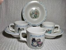Peter Rabbit Bowls Cups Friends Child 6 pc Set Bowl Cup Mugs Mug Eden Melamine