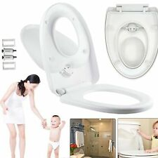 3 IN 1 Luxury Soft Close Bathroom Family Child Toilet Seat WithTop Fixing Hinges