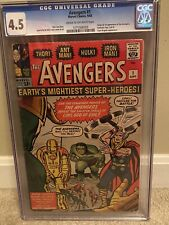Avengers #1 CGC 4.5 Origin and 1st appearance of the Avengers! Gorgeous Mega Key