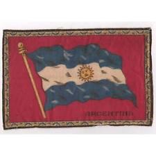 "Tobacco Flag Argentina 1900's flannel-felt 8""x5.25"" cigar/cigarette premium ᵇ F1"