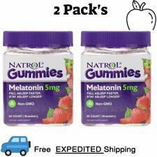 2 Pack's Natrol Melatonin 5 Mg Strawberry Flavor - 90 Gummies