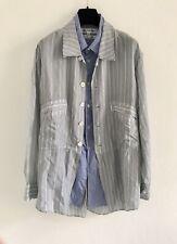 COMME des GARCONS Men's Detailed Double Collar répartis Shirt Jacket Size L-XL