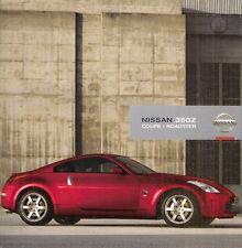 Nissan 350Z 2007-09 UK Market Sales Brochure Coupe Roadster GT