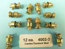 4002-3 Camloc Stud Turnlock Fastener (12 each) Slot Head Aircraft Aviation Race