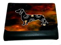 Dachshund Purse Wallet  Striking Dark Design Dachshund Purse Xmas Thankyou Gift