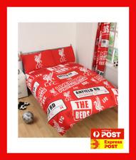 LIVERPOOL FC FOOTBALL CLUB fits QUEEN bed QUILT DOONA SET NEW