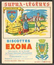 91 ESSONNES BISCOTTES EXONA PROVINCE PROVENCE BUVARD BLOTTING PAPER