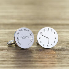 Personalised Silver Finish When ... met Daddy Cufflinks - Fathers Day New Baby