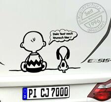 Aufkleber Snoopy Charly 60x36cm S086T Wunschfarbe, Auto Wohnmobil Wohnwagen Bus